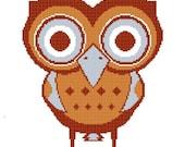 Cross Stitch Pattern - Mr. Owl in Argyle 2
