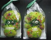 Green Skull Cookies