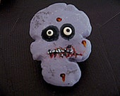Purple Zombie Skull Cookie