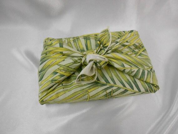 Green Cotton Napkin- Furoshiki