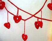 St Valentine Scarlet Heart Garland