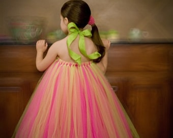 Create your own Tutu Dress..Sizes (2-3) years...Plus A FREE Flower clip...