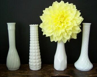 Vintage Milk Glass Bud Vase Instant Collection