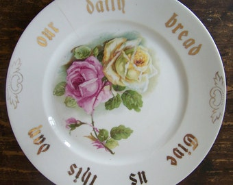 Give Us This Day Cottage Chic Plate