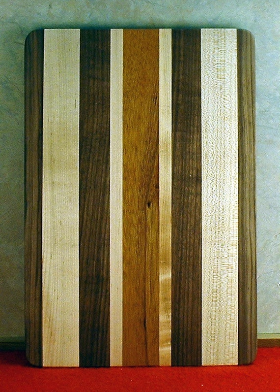 Laminated multi wood bread cutting board by mlcwoodworks