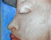 Girl She - Original Watercolor