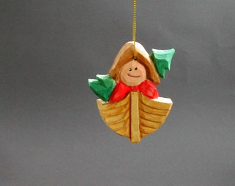 """NORDIC STYLE Christmas Ornament  """"Bringing home the tree"""""""
