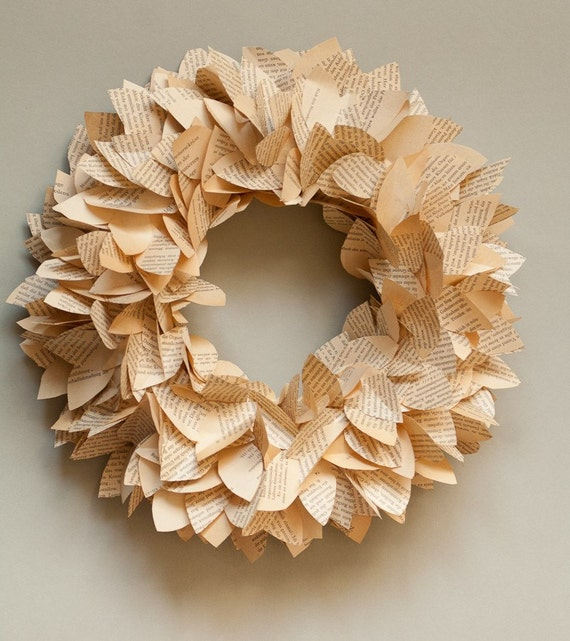 Paper Wreath - Leaves