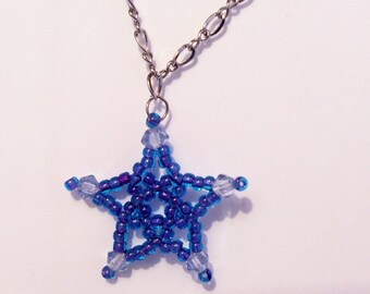 Five Point Star Pattern, Beading Tutorial in PDF