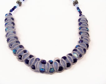 Orbit Necklace Pattern, Beading Tutorial in PDF