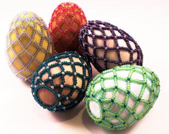 Easter Treasures Beaded Egg Pattern, Beading Tutorial in PDF