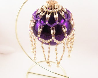 Pearl Ornament Cover Pattern, Beading Tutorial in PDF
