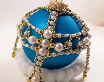 Holy Cross Ornament Cover, Beading Tutorial in PDF