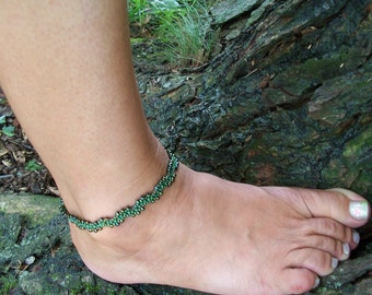 Catch the Waves Bracelet or Anklet Pattern, Beading Tutorial in PDF