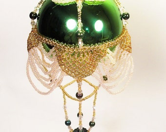 Hot Air Balloon Ornament No.4, Beading Tutorial in PDF