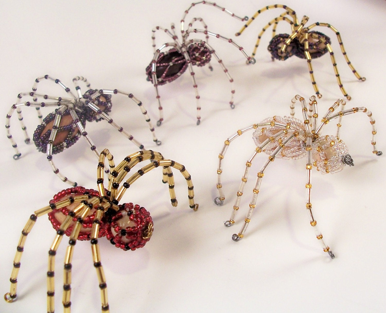 Christmas spider pattern beading tutorial in pdf for Design ornaments