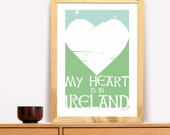 My Heart Is in Ireland Modern Trad Poster