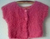 Knitting PATTERN - Sleeveless Girls Bolero