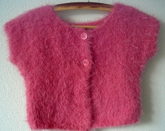 Knitting PATTERN - Sleeveless Girls Bolero