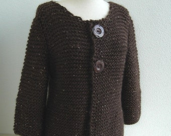 Knitting PATTERN - Easy and Elegant Cardigan