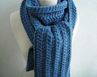Knitting PATTERN - Reversible Heringbone Scarf