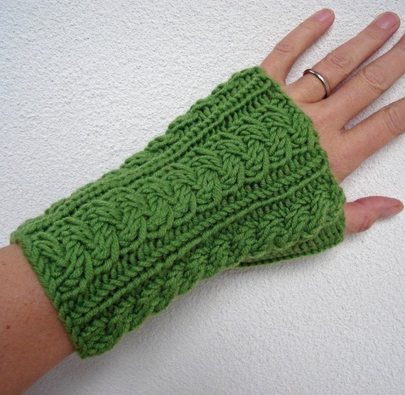 Knitting PATTERN Wrist Warmers by HandmadeHandsome on Etsy