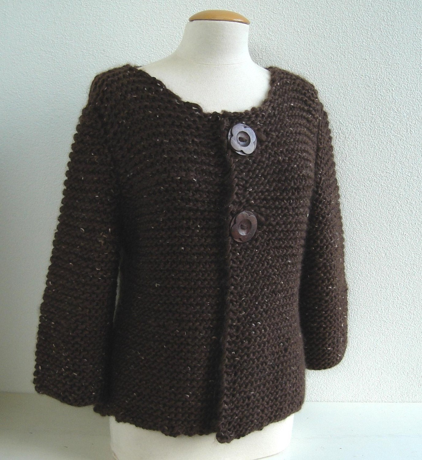 Easy Knitting Pattern For Cardigan : Knitting PATTERN Easy and Elegant Cardigan