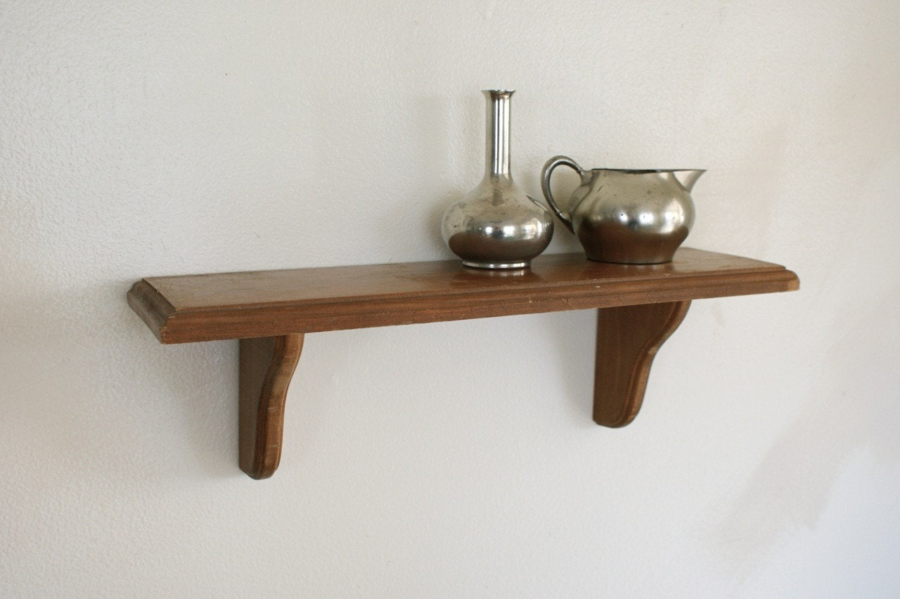 Wood Wall Shelves ~ Wood wall shelf small display shelving wooden hanging