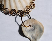 Sea Shell Necklace, Sea Shell Jewelry, Ocean Treasures