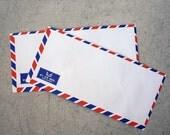 Set of 20 vintage style french airmail par avion flat envelope 23cm X 11cm 70gram