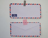 Set of 20 vintage style french airmail par avion flat envelope 23cm X 11cm 70gram