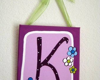 Canvas letters,lime green,turquoise ,purple, personalized,customized wall art to match bedding,letters for girls,girls letters,kids letters