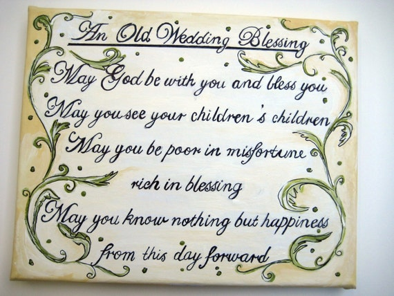 An Old Wedding BlessingIrish BlessingGaelic