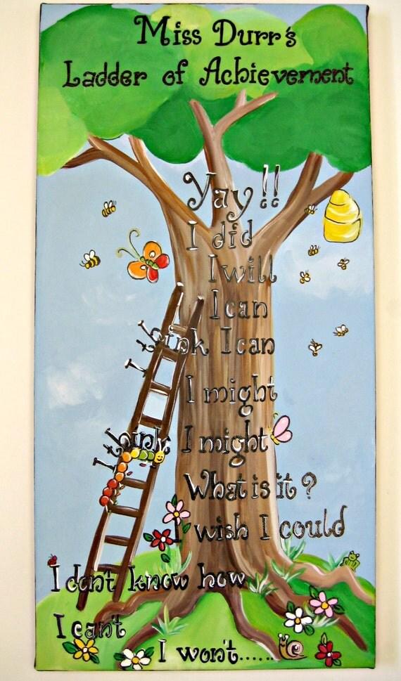 An inspirational poem painting,personalized art with an encouraging poem,teachers art,teachers wall hanging,classroom art,teacher's gift