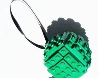 Green LEGO Brick Christmas Ball Ornament Kit