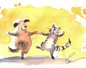 Funny Dog & Cat Note Cards 'Twinklepaws' RESERVED for GARRETT