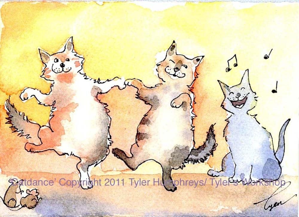 I Like Cats Christmas Card