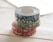 Classiky Japanese Washi Masking Tapes - Squirrel, Leaves and Acorn for journaling, scrapbooking, packaging
