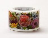 Discontinued-MT ex 2011 Autumn - Japanese Washi Masking Tapes / 30mm wide Flower Garden