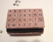 Mini Alphabet Stamp Set - Capital Letter (type B) for invitation and card making, scrapbooking