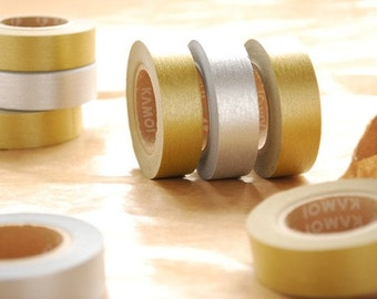 Japanese Washi Masking Tapes / Beautiful Gold and Silver for Weddings, Holidays, Birthdays and Showers (15m Long, 50 percent more)