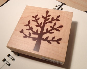 On Sale - Japanese Big Tree Wooden Rubber Stamp for invitation and card making, packaging, scrapbooking