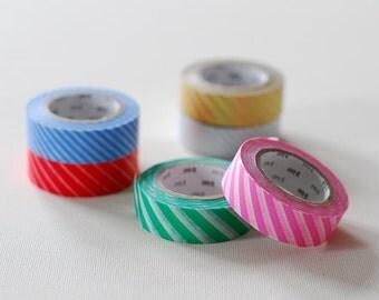 1 DOLLAR SALE - Diagonal Stripes Japanese Masking Tape for scrapbooking, decoration, packaging