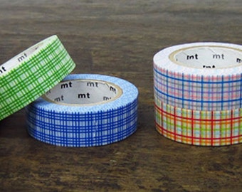 1 DOLLAR SALE - MT 2012 Japanese Masking Tape / Checker Grid for Wedding, Parties, Showers, invitations, scrapbooking