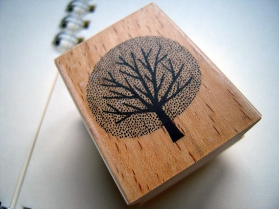 Pretty Japanese Tree Wooden Rubber Stamp (STP-029) for cards, tags invitations making, scrapbooking, packaging