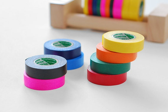 Japanese Masking Tape pack of 8 / Primary Colors - 15mm x 18m