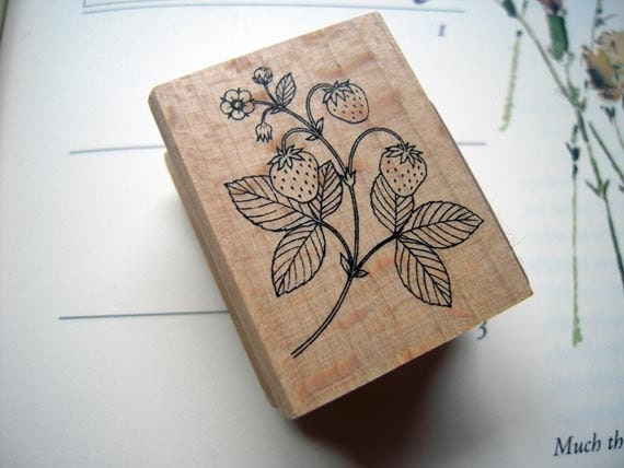 Pretty Japanese Flora Wooden Rubber Stamp (STP-045) for cards, tags invitations making, scrapbooking, packaging