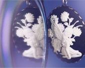 Beautiful Fairy Cameo Long Chain Pendant