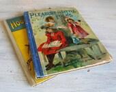Pair Antique Victorian Childrens Books Illustrated