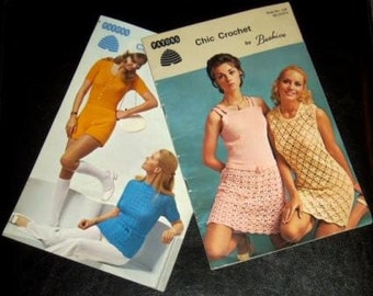 vintage craft booklet ... HOTPANTS and CHIC DRESSES Patterns ...